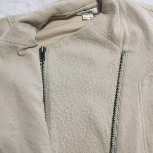 Helmut Lang Tops - Helmut Lang Villous Moto Zip Sweatshirt Jacket P